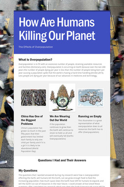How Are Humans Killing Our Planet