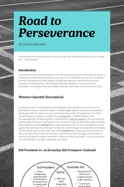Road to Perseverance