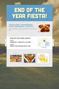 End of the year fiesta!