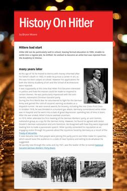 History On Hitler
