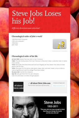 Steve Jobs Loses his Job!