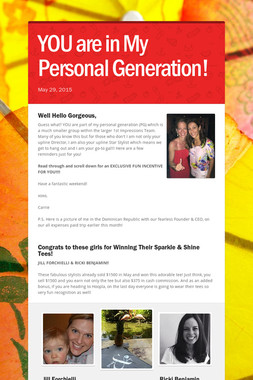 YOU are in My Personal Generation!