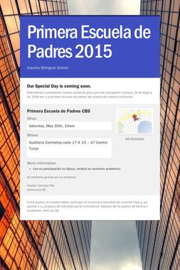 Primera Escuela de Padres 2015