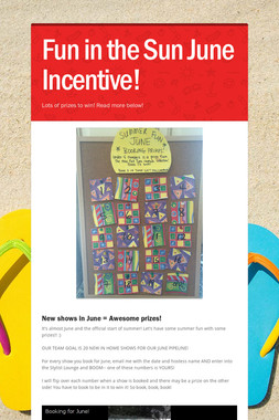 Fun in the Sun June Incentive!