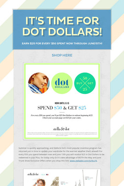 It's Time for Dot Dollars!