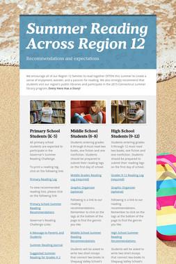 Summer Reading Across Region 12