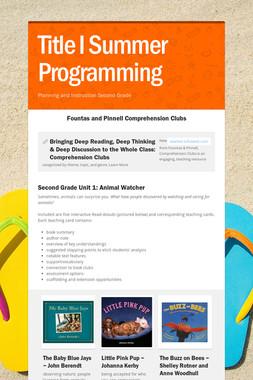 Title I Summer Programming