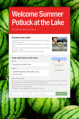 Welcome Summer Potluck at the Lake