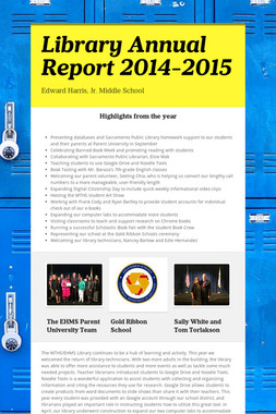 Library Annual Report 2014-2015