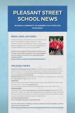 Pleasant Street School News