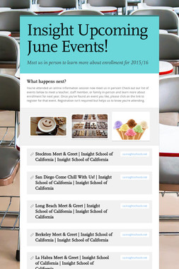 Insight Upcoming June Events!