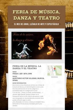 Feria de música, danza y teatro