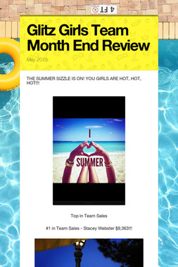 Glitz Girls Team Month End Review