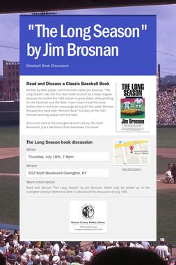 """""""The Long Season"""" by Jim Brosnan"""