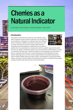 Cherries as a Natural Indicator