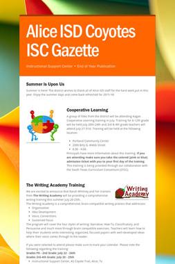 Alice ISD Coyotes ISC Gazette