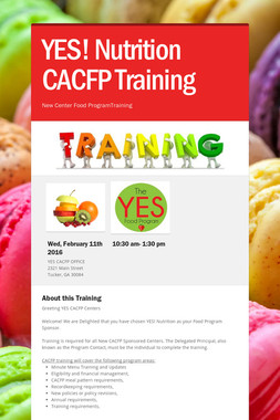 YES! Nutrition CACFP Training