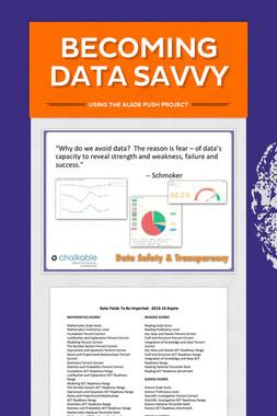 Becoming Data Savvy