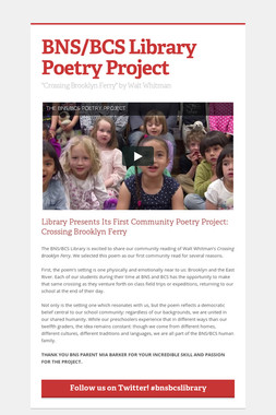 BNS/BCS Library Poetry Project