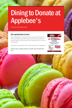 Dining to Donate at Applebee's