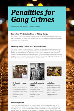 Penalities for Gang Crimes