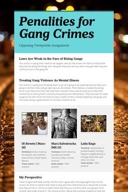 Penalities for Gang Crimes