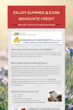 Enjoy Summer & Earn Graduate Credit
