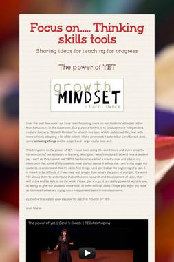 Focus on..... Thinking skills tools