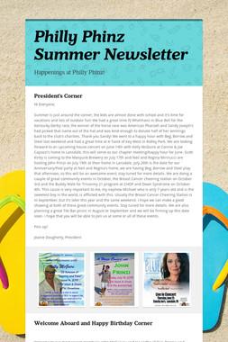 Philly Phinz Summer Newsletter