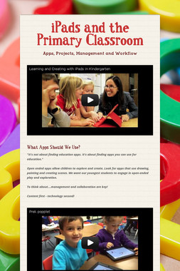 iPads and the Primary Classroom