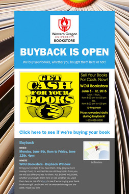 Buyback is open