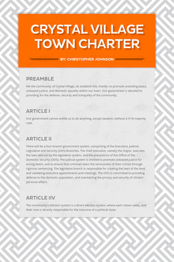 Crystal Village Town Charter