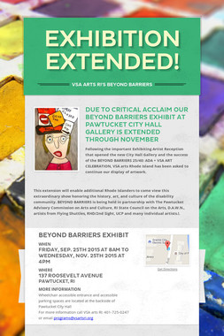 EXHIBITION EXTENDED!