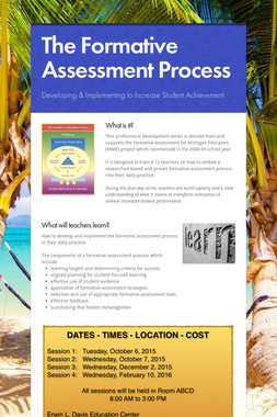 The Formative Assessment Process