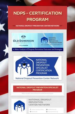 NDPS - Certification Program