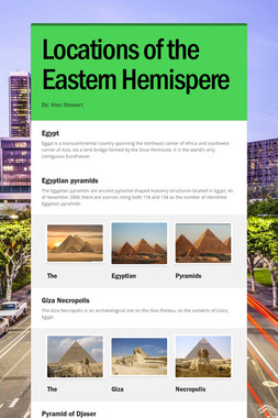Locations of the Eastern Hemispere