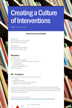 Creating a Culture of Interventions