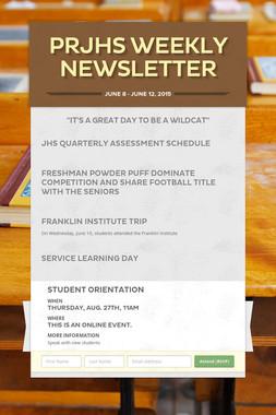 PRJHS Weekly Newsletter