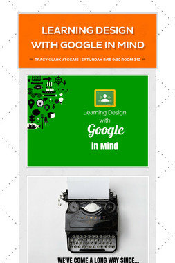 Learning Design With Google in Mind