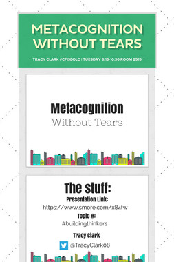 Metacognition Without Tears