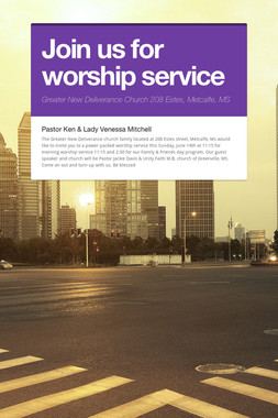 Join us for worship service
