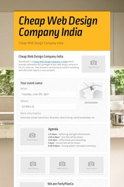 Cheap Web Design Company India