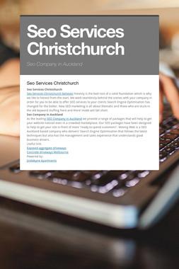Seo Services Christchurch