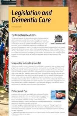 Legislation and Dementia Care