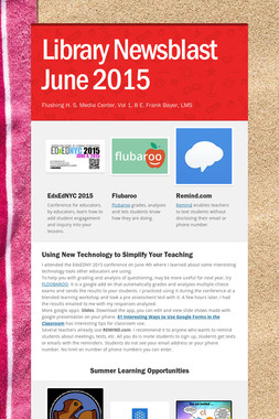 Library Newsblast June 2015