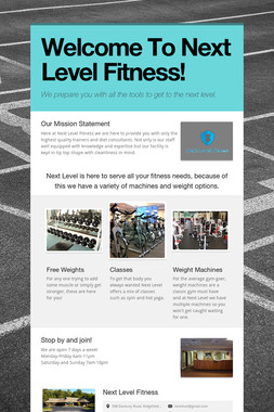 Welcome To Next Level Fitness!