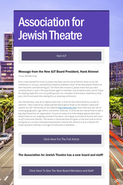 Association for Jewish Theatre