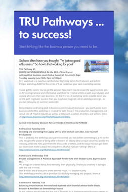 TRU Pathways ...    to success!