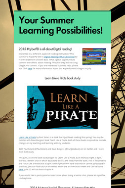 Your Summer Learning Possibilities!