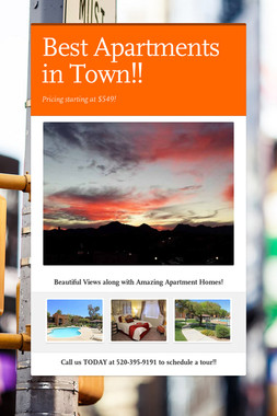Best Apartments in Town!!